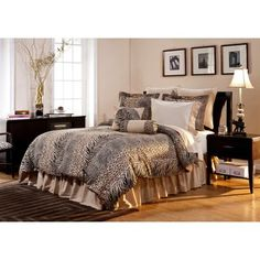 #AD@Overstock - Add an exotic touch to your bedroom decor with this Urban Safari bed in a bag from Pointehaven.  This 12-piece bedding ensemble showcases animal prints in shades of brown, black and beige.  http://www.overstock.com/Bedding-Bath/Urban-Safari-California-King-size-12-piece-Bed-in-a-Bag-with-Sheet-Set/5665350/product.html?CID=214117 $129.99