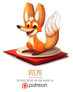 Day 1413. Vulpie by Cryptid-Creations Time-lapse, high-res and WIP sketches of my art available on Patreon (:Twitter • Facebook • Instagram • DeviantART