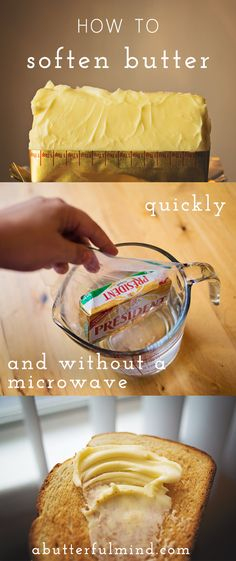 Learn how to soften butter quickly and without a microwave in this easy step by step kitchen tutorial by A Butterful Mind.