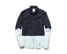 Uniform Experiment Bleached Denim B.D. Shirt