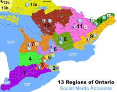 13 Tourism Regions of Ontario, who's using Social Media?