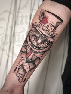 My latest tattoo Cheshire cat from Lothary at Inne Tattoo Łó.- My latest tattoo Cheshire cat from Lothary at Inne Tattoo Łódź Poland My latest tattoo Cheshire cat from Lothary at Inne Tattoo Łódź Poland - Unique Tattoos, Cute Tattoos, Leg Tattoos, Body Art Tattoos, Sleeve Tattoos, Tattoos For Guys, Cheshire Cat Tattoo, Chesire Cat, R Tattoo