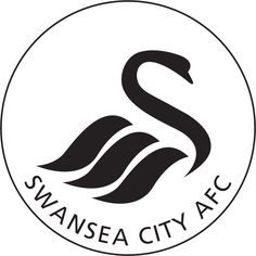 "SWANSEA CITY From the world of English football, comes the Swan whose head forms the shape of an ""S"" for Swansea. English Football Teams, British Football, Football Team Logos, Soccer Logo, Epl Football, Sports Logos, As Roma, Badges, Logo Luxury"