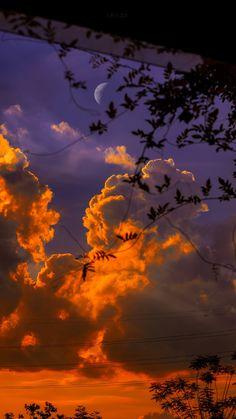 Night Sky Wallpaper, Sunset Wallpaper, Iphone Background Wallpaper, Scenery Wallpaper, Aesthetic Pastel Wallpaper, Aesthetic Backgrounds, Nature Wallpaper, Aesthetic Wallpapers, Purple Wallpaper Iphone