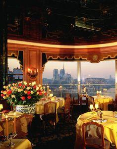 La Tour D'Argent in Paris. Founded in 1582, it sits on the Seine and looks out on Île de la Cité and Notre Dame Cathedral.