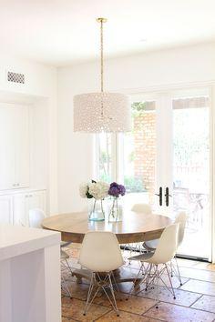 Interior Design by Becki Owens Design.  Interior Design by Nicole Davis.  Photography by Becki Owens.  Modern Sanctuary.  Kitchen.  Modern Kitchen. White Kitchen. Dining Space. Modern Dining Space.