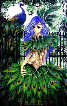 Peacock lady by AlcoholicRattleSnake.deviantart.com on @deviantART