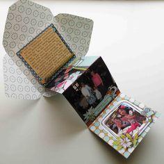 Katie's Nesting Spot: Accordion album example. Not a tutorial - Minialbum im Umschlag (idee für envelope Punch Board)