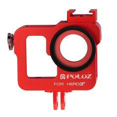 PULUZ Housing Shell CNC Aluminum Alloy Protective Cage with 37mm UV Lens Filter and Lens Cap for GoPro HERO3  /3(Red) -- Read more reviews of the product by visiting the link on the image. (This is an affiliate link) #CarAccessories