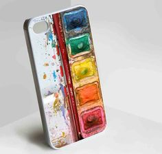 Water Color Palette w/ Protective Clear Case for iPhone and Samsung Galaxy