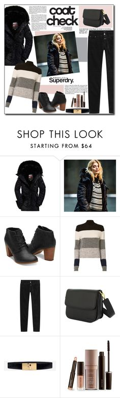 """""""The Cover Up – Jackets by Superdry: Contest Entry"""" by polybaby ❤ liked on Polyvore featuring Superdry, CENA, Equipment, Closed, White House Black Market, Laura Mercier and MySuperdry"""