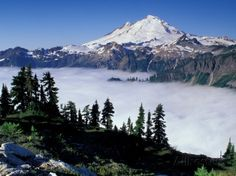 View of Mount Baker from Artist's Point, Snoqualmie National Forest, Washington, USA Fotografisk trykk