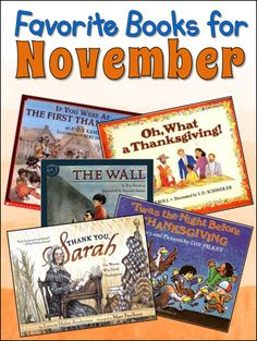 Favorite Books for November - Look for them now so you'll have them for your November lessons