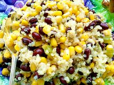 Quinoa Black Bean Corn Salad try adding cherry tomatoes, green onions ...