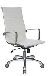 This white leather office chair reminds me of the chairs on the beach in the summer. #WhiteLeatherChair #OfficeChair