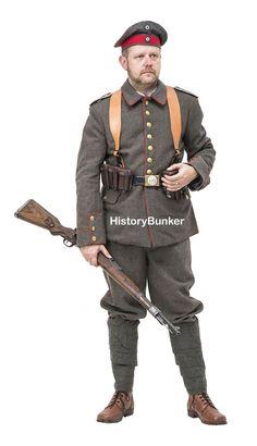 WW1 Imperial German Soldier uniform 1914 with webbing -