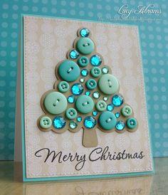 Navidad (rondjes op de boom tekenen volgens de grootte van de knopen (kerstballen)) .