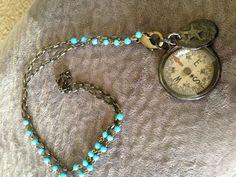 Antique compass charm necklace.