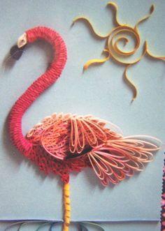 quilling Flamingo