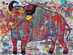 Crazy Buffalo!! Acrylic on canvas  Size 150x200cm  Art for sale Artist #popkapi   #acryliconcanvas#abstract#abstractart#artforsale#cool#expressionism#neoexpressionism#awesome#weirdart#weird#colorful#colorfulart#style#graphicart#popart#followme#contemporaryart#popkapi#mywork#myart#dope#workinprogress#workspace#workstation#painting#paint#sick#art#artist#draw#doodle