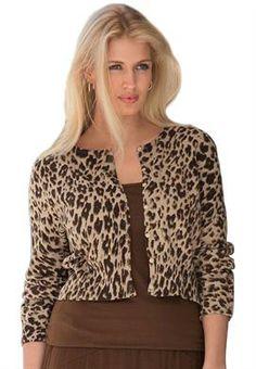 Plus Size Cropped Cotton Cardigan image