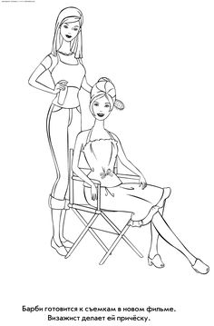 Barbie Makeup Artist Raquo Coloring For Kids Print Free Childrens
