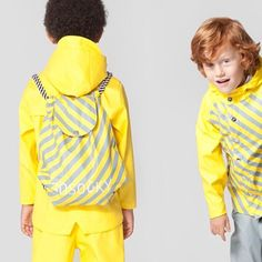 by: 💛 Love the backpack Rain Wear, Rain Drops, Love Is All, Ss16, Backpacks, Celebrities, Instagram Posts, Kids, Clothes