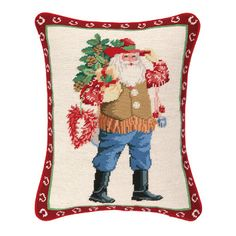 FREE SHIPPING! Shop Wayfair for Peking Handicraft Caliente Santa Needlepoint Lumbar Pillow - Great Deals on all Decor products with the best selection to choose from!