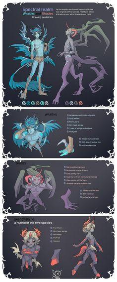 Species Reference Sheet by MoonLightSpectre.deviantart.com on @deviantART