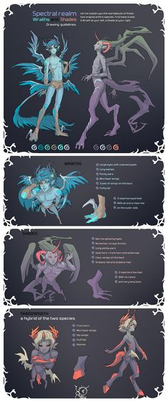 Species Reference Sheet by MoonLightSpectre.deviantart.com on @deviantART