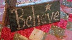 Believe Wooden Sign HOL99 #eBay
