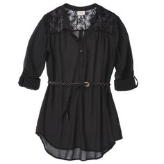 Easy pairing with skinny jeans and flats/boots.  Mossimo Supply Co. Junior's Belted Tunic - Assorted Colors