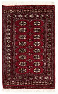 3x5 Red Bokhara Oriental Rug