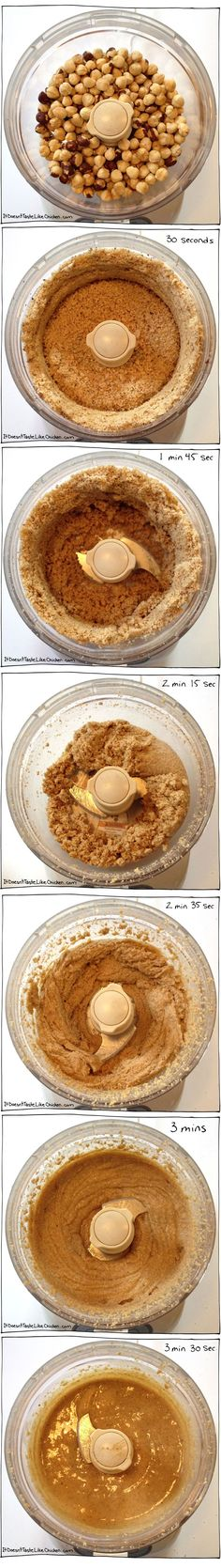 Homemade Hazelnut Butter Recipe. Just one ingredient to make this creamy delicious treat! #itdoesnttastelikechicken