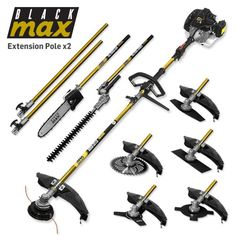 BlackMax 52CC Brushcutter 8-in-1 Multitool Kit   Buy Pole Saws