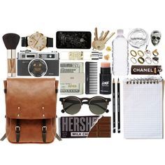 in my baaaaag by hoeless on Polyvore featuring Ally Capellino, ASOS, INC International Concepts, King Baby Studio, Carven, Jack Spade, Sonia Kashuk, Le Labo, Sephora Collection and Urbanears