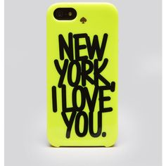 Kate Spade New York Iphone 5/5s Case - New York I Love You ($40) ❤ liked on Polyvore featuring accessories, tech accessories, phone cases, phones, cases, iphone, nyc citron and kate spade