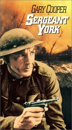 Sergeant York: True story of a Tennessee sharpshooter drafted in WWI despite his claim to be a pacifist, who ends up becoming a war hero.