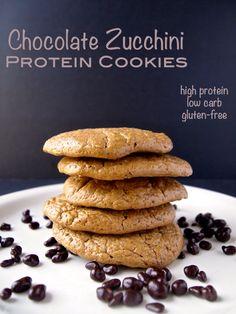Chocolate Zucchini Protein Cookies • Healthy Helper