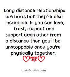 Long distance relationship quotes unique love quotes for her long distance relationships are hard but theyre Cute Couple Quotes, Unique Love Quotes, Love Quotes For Her, Long Distance Quotes, Long Distance Relationship Quotes, Long Distance Love, Missing You Quotes Distance, Relationship Advice, Get Hard Quotes