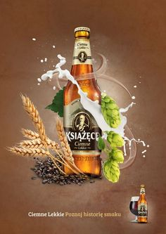 BEER by Anna Małecka, via Behance Don't forget to come and see us at http://bakedcomfortfood.com!