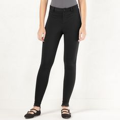 Women's LC Lauren Conrad Knit Skinny Pants, Size: 16, Black