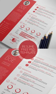 Clean And Professional Resume Free Psd