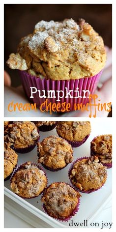 Pumpkin Cream Cheese Muffins. Low Carb Version: sub almond flour for flour; Xylitol for sugar & add an extra egg or two.