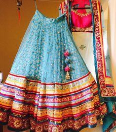 Hope your Saturday is as color Indian Bridesmaid Dresses, Indian Dresses, Indian Outfits, Indian Clothes, Bollywood Lehenga, Lehenga Choli, Anarkali, Designer Lehnga Choli, Function Dresses