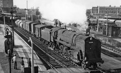 Southall - GWR. Spent many hours as a kid standing on the footbridge being blasted by smoke as those beautiful engines went by