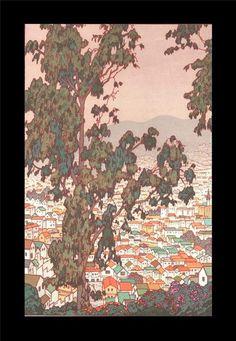 Yoshida Toshi - SanFrancisco - Japanese Woodblock Print
