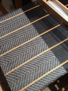 at 20 epi, merino tencil weft Next time I will do 24 epi! Weaving Textiles, Weaving Patterns, Textile Patterns, Textile Design, Woven Rug, Woven Fabric, Inkle Weaving, Woven Scarves, Weaving Projects