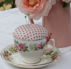 Posts about teacup pincushion written by adaliza Old English Roses, Fabric Storage, Sewing Studio, Sewing Tools, Pincushions, Cushion Ideas, Crafty, Teacups, Tableware