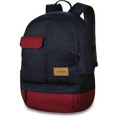 "Dakine SEMESTER 28L Mens 17"" Laptop Backpack Bag Denim Navy Red NEW"